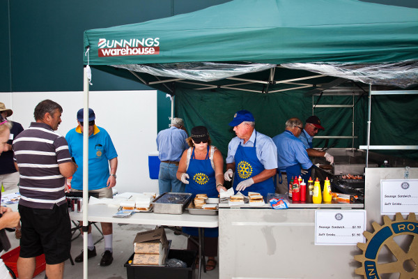 Sausage Sizzle stall